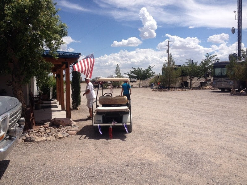 entering the clubhouse at Cedar Cove RV Park, Elephant Butte NM