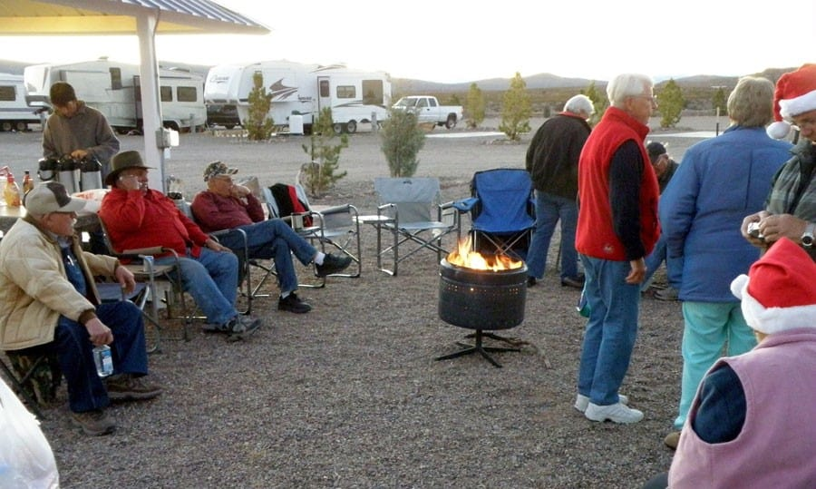 christmas mixer at cedar cove rv park
