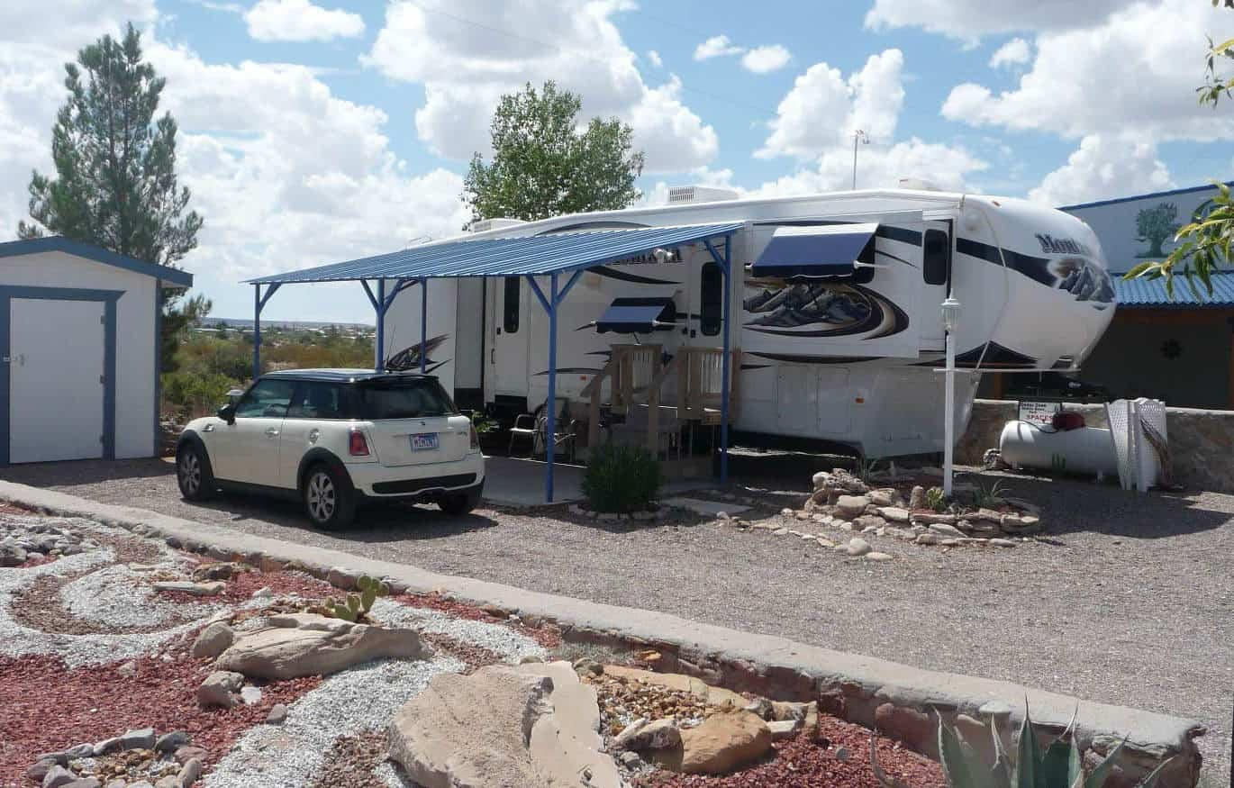 home away from home at Cedar Cove RV Park, Elephant Butte NM