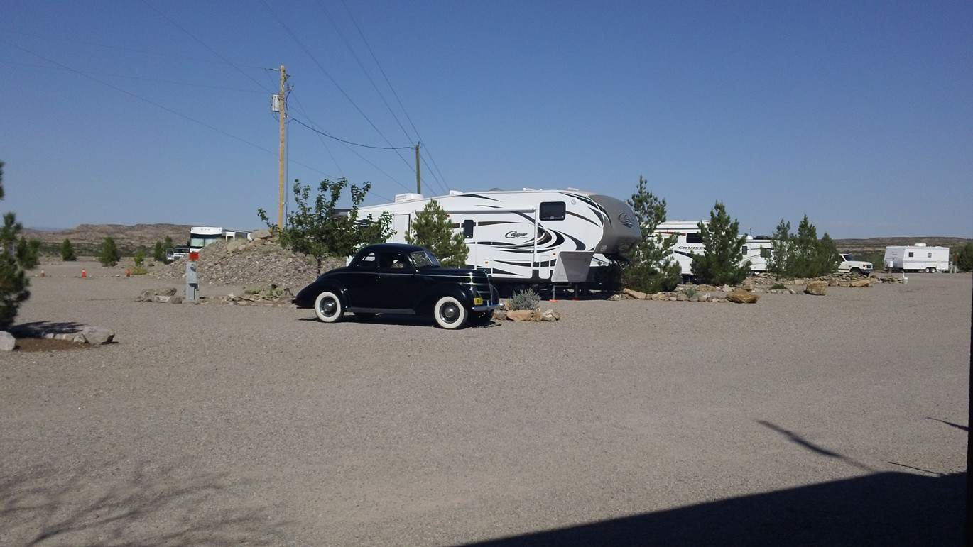 RVs  at Cedar Cove RV Park, Elephant Butte NM