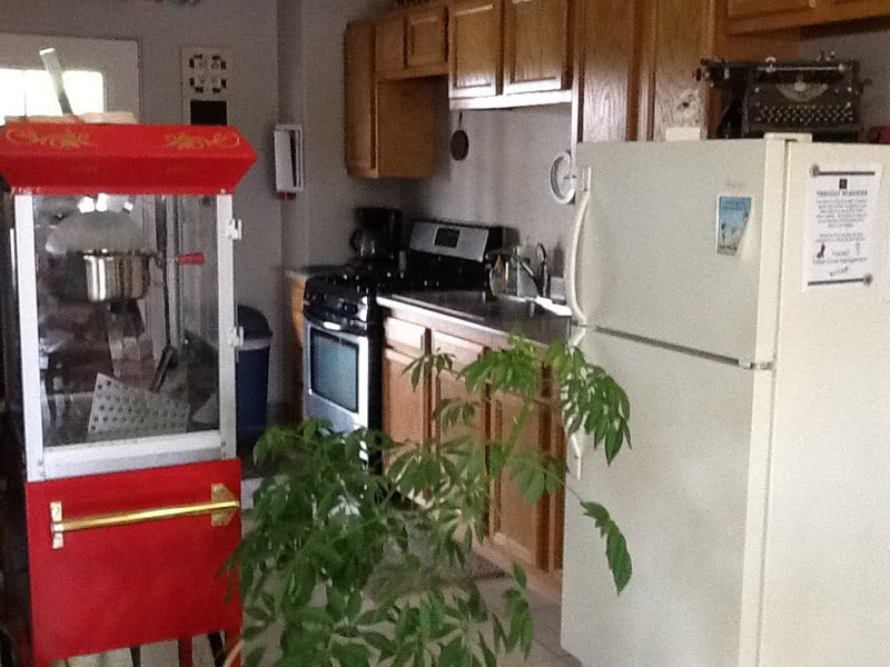 cedar cove rv park community room popcorn machine