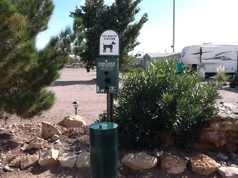 cedar cove rv park pet waste station