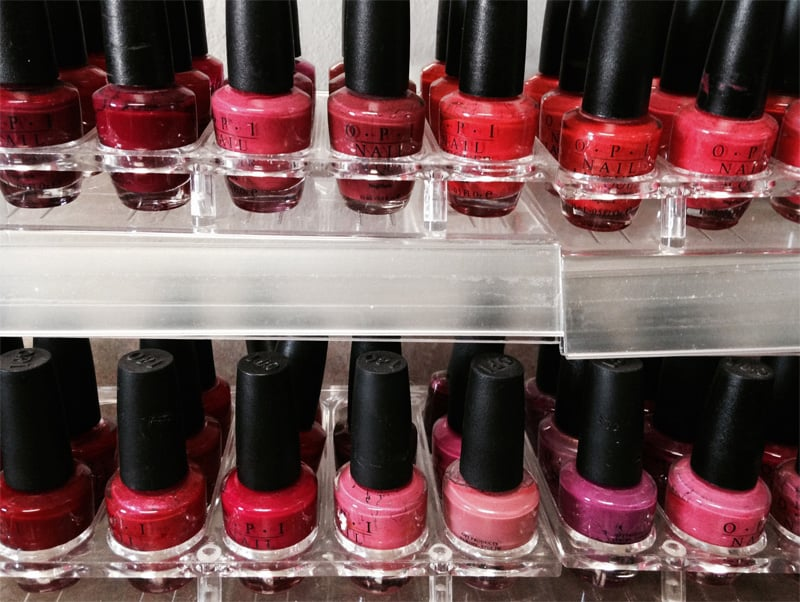 Opi nail polish at Cedar Cove Nail Salon