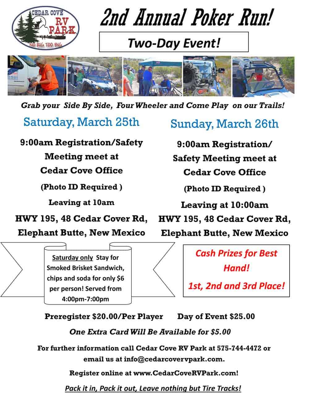 Cedar Cove ATV Poker Run 2017