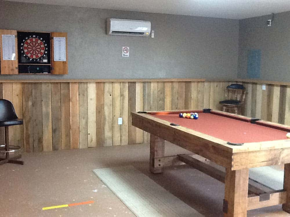 cedar cove rv park pool table ready to play