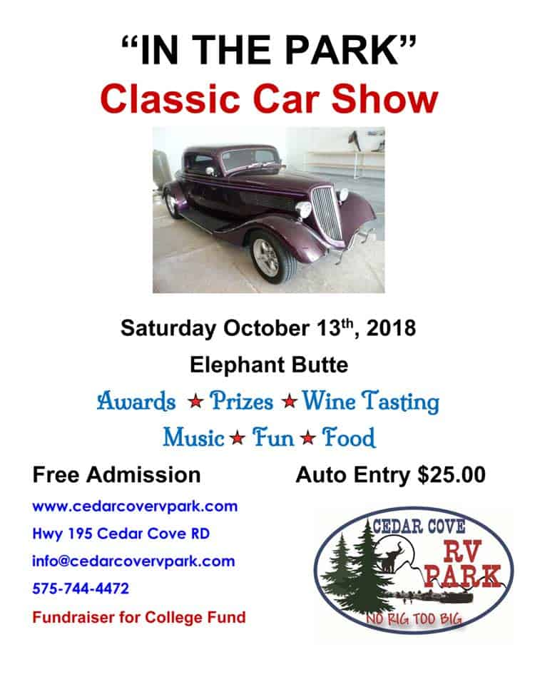 cedar cove rv park car show