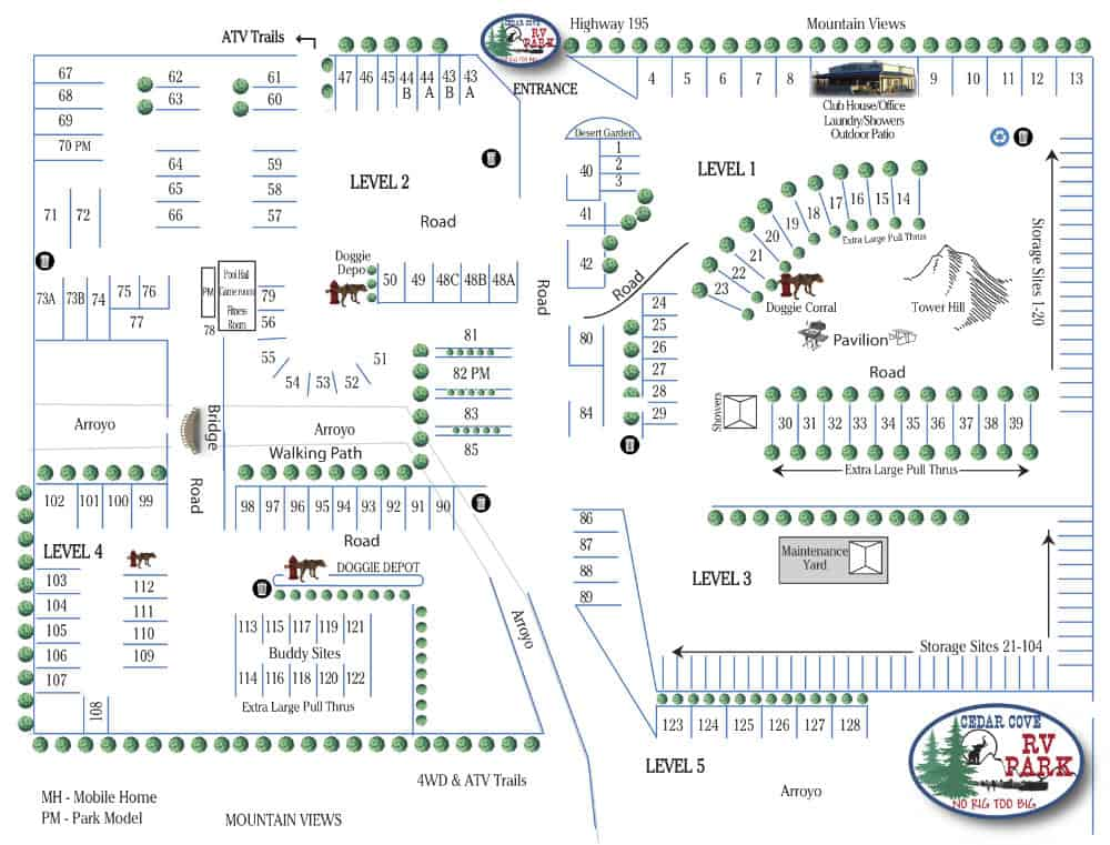 cedar cove rv park map