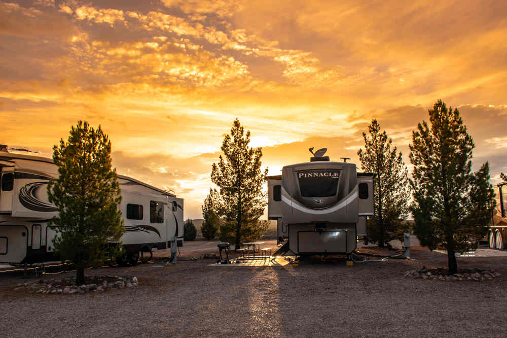 cedar cove rv park at sunset elephant butte