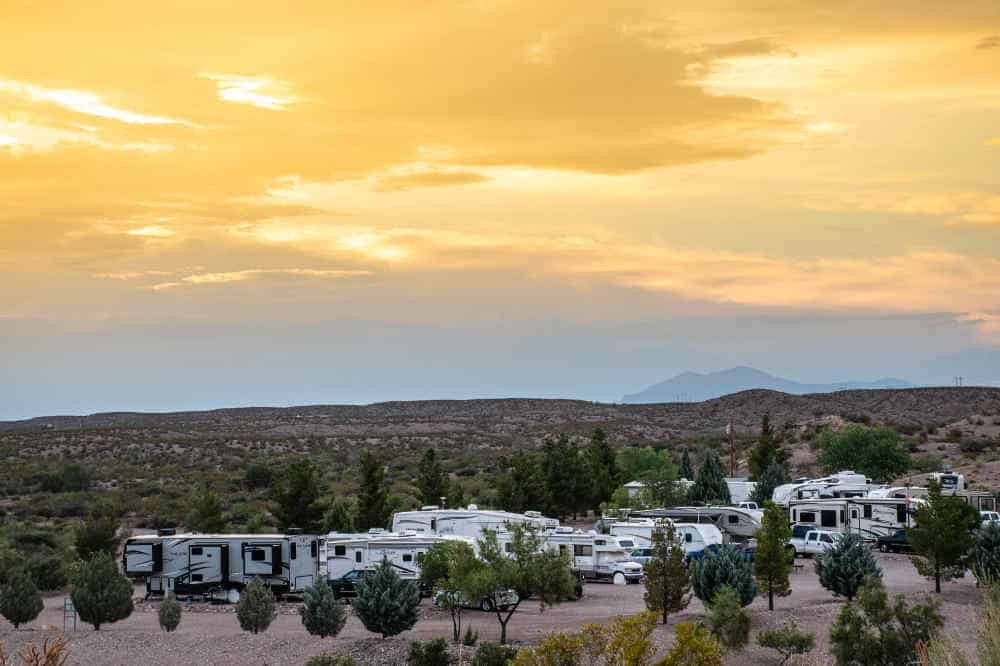 rvs at cedar cove rv park elephant butte nm
